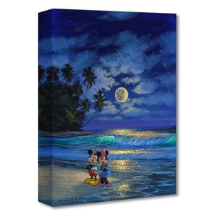 Romance Under the Moonlight by Walfrido Garcia  Mickey and Minnie taking a romance midnight stroll under the moonlight.