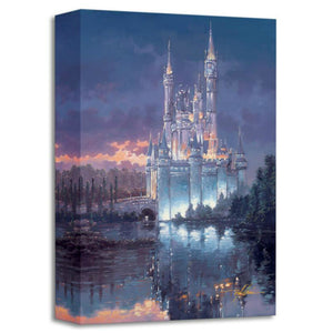 Royal Reflection by Rodel Gonzalez  Cinderella's beautiful lit towering castle's reflection is seen in the water.