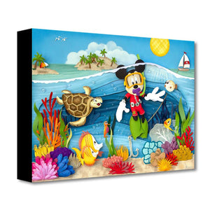 Scuba Mickey - Disney Treasures On Canvas