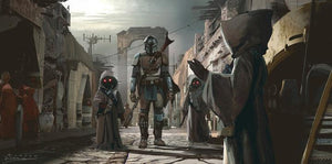 The Mandalorian gets a helping hand from the Jawa - Jawas. - canvas