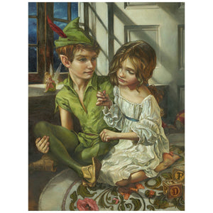 A portrait of Peter Pan and Wendy sit in her room by Heather Edwards