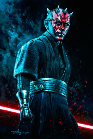 Portrait of Darth Maul, one of several Sith Lords in the galaxy.