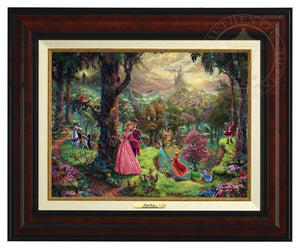 Princess Aurora and Prince Phillip, are surrounded by their friends from the forest and the three good fairies, Flora, Fauna, and Merryweather - Burl Frame