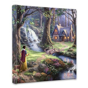 Snow White comes upon the small cottage hidden within the forest.