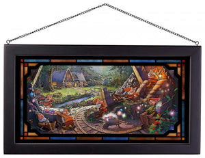 Snow White and the Seven Dwarfs - Framed Glass Art
