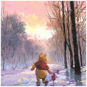 Snowy Path by Rodel Gonzalez  Winnie the Pooh and his friend Piglet take a winter day stroll through a snowy path - closeup