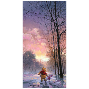 Snowy Path by Rodel Gonzalez.  Winnie the Pooh and his friend Piglet take a winter day stroll through a snowy path.