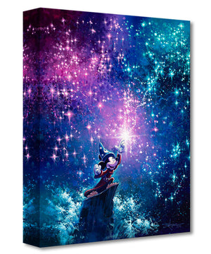 Gallery Wrap - Sorcerer Mickey by Rodel Gonzalez  Mickey the Sorcerer is creating colorful stars in the night sky.