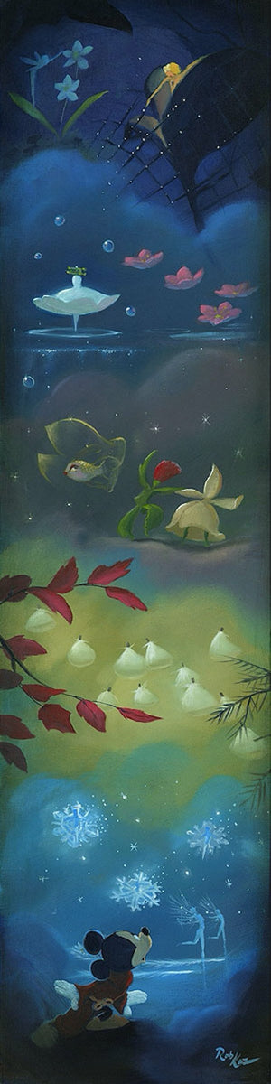 Spectacle of the Seasons by Rob Kaz.  Mickey watches the spectacular array of beautiful creatures floating among each other.