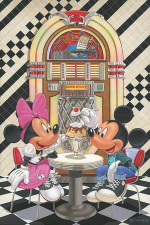 Mickey and Minnie enjoyed a delicious sundae at their favorite Hip-Hop parlor,