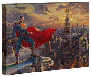 The Last Son of Krypton stands tall over seeing the city from above.