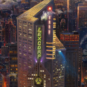 Major innovators LexCorp and S.T.A.R. Laboratories call Metropolis home, making technology and the sciences the heart of Metropolis' economy - Closeup