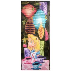 "Tea for Three by Rob Kaz.  Alice awaits the for the tea party guest to arrive. Inspired by Disney's movie film ""Alice in Wonderland"" a storybook tale."