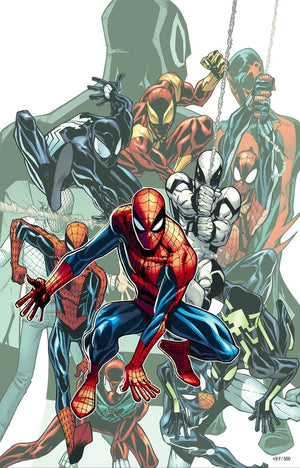 The many forms and derivatives of Spider-Man.