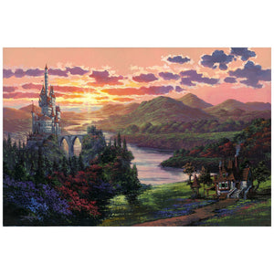 The Beauty in the Beast's Kingdom by Rodel Gonzalez.  A stunting sunset view of the Beast's castle.