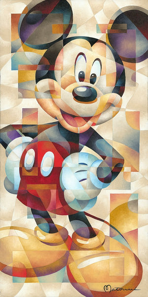 "The Famous Pose by Tom Matousek.  Mickey Mouse, an original pose -""hands and arms resting on his side."""