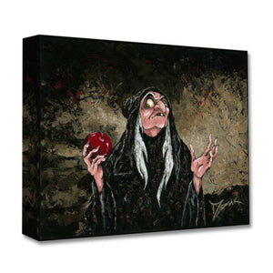 The Magic  Wishing Apple by Trevor Mezak  The old hag (Evil Queen) holding the poisonous shiny red apple.
