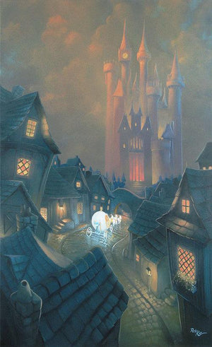 The Palace Awaits by Rob Kaz.  Cinderella in her magical carriage passes through the village on her way to the King's Ball.