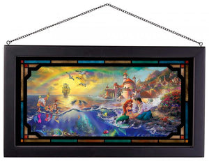 The Little Mermaid - Framed Glass Art