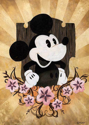 Mickey Mouse smiling!