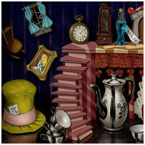 "Things from Wonderland by Clinton Hobart. The wonderful and kooky things from ""Alice in Wonderland"" - closeup"