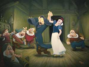 Snow White dancing with Dopey