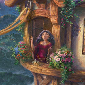 Mother Gothel standing by the window - closeup 2