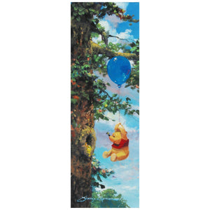 "Up in the Air by James Coleman  Winnie the Pooh has figured out how to get to the honey up in the tree...with a blue balloon that takes him up to his favorite food the  ""HONEY."""