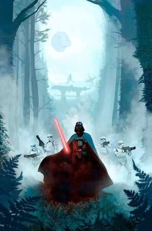 Star Wars: Return of the Jedi inspired artwork featuring Darth Vader on Endo