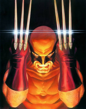 """Visions: Wolverine. Features: The 3rd addition to Alex Ross's breathtaking ""Visions"" Series with  Edition Size: 100 - Limited Edition Giclee on Canvas. Artist: Alex Ross"