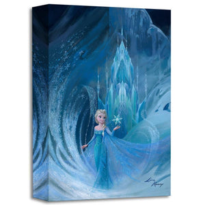 Elsa in her ice castle.