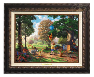 Winnie the Pooh II - Christopher Robin, Winnie the Pooh and the delightful menagerie of friends as they all adventured in the Hundred Acre Wood - Aged Bronze Frame.
