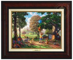 Winnie the Pooh II - Christopher Robin, Winnie the Pooh and the delightful menagerie of friends as they all adventured in the Hundred Acre Wood - Burl Frame.