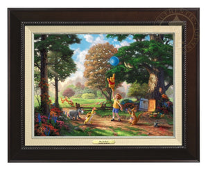 Winnie the Pooh II - Christopher Robin, Winnie the Pooh and the delightful menagerie of friends as they all adventured in the Hundred Acre Wood - Espresso  Frame.