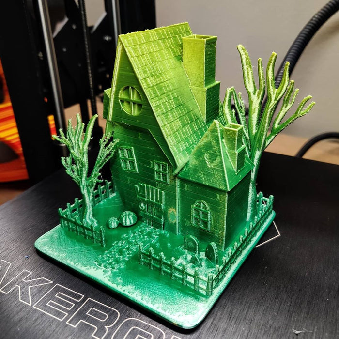 🎃Nice Haunted House Printing Share used SUNLU PLA Silk Rainbow Filament | SunLu 3D