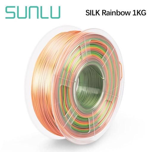 10 Rolls of PLA Silk Rainbow Filament 1.75mm 1kg/2.2lbs - SunLu 3D