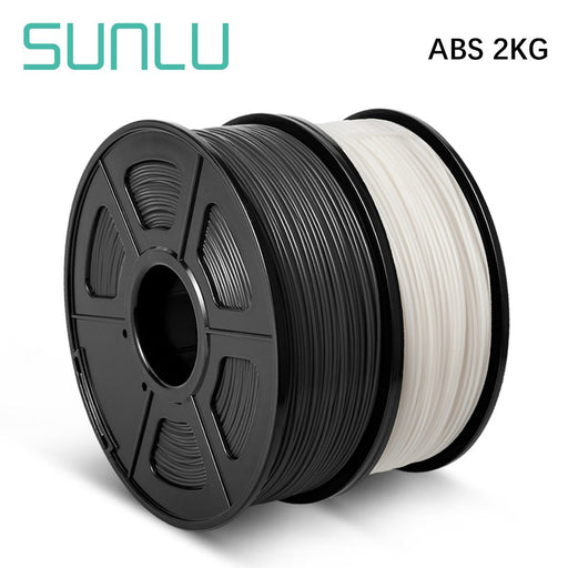 2 Rolls ABS 3D Printer Filament 1.75mm 2kg/4.4LBS - SunLu 3D