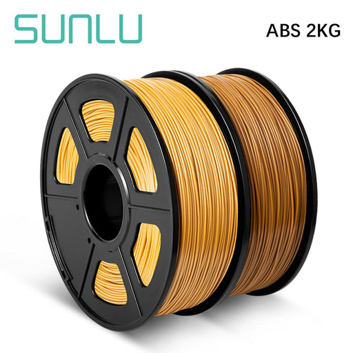 2 Rolls ABS 3D Printer Filament 1.75mm 2kg/4.4LBS - SunLu 3D Printer Filament