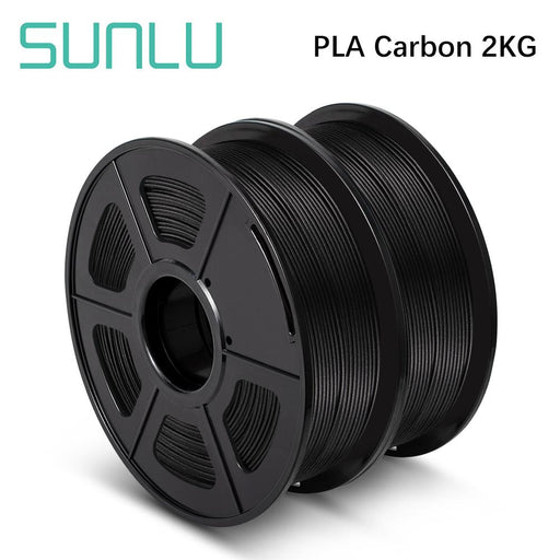 2 Rolls of PLA Carbon Fiber 1.75mm Filament 1kg/2.2lbs - SunLu 3D Printer Filament