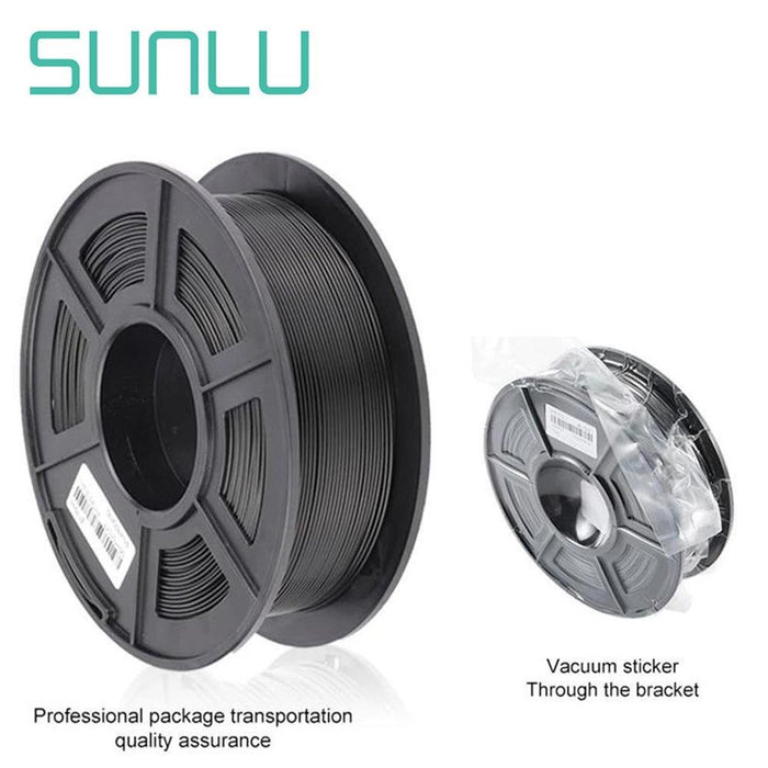 2 Rolls of PLA Carbon Fiber 1.75mm Filament 1kg/2.2lbs - SunLu 3D