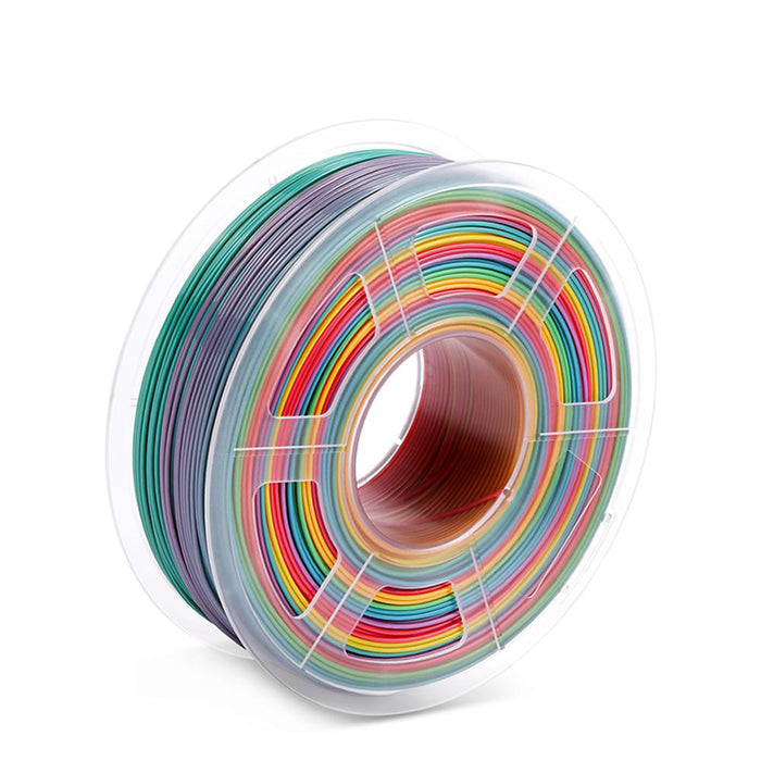 2 Rolls PLA Rainbow 1.75mm 3D Printer Filament 2kg/4.4lbs - SunLu 3D Printer Filament