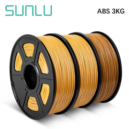 3 Rolls ABS 3D Printer Filament 1.75mm 3kg/6.6LBS - SunLu 3D
