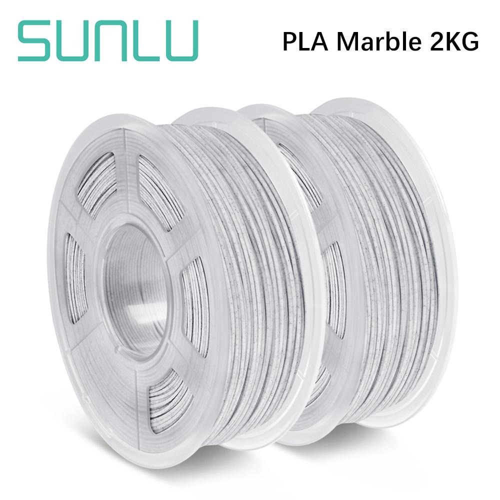 3 Rolls of PLA Marble 1.75mm filament, Fit most of FDM 3D printer - SunLu 3D Printer Filament