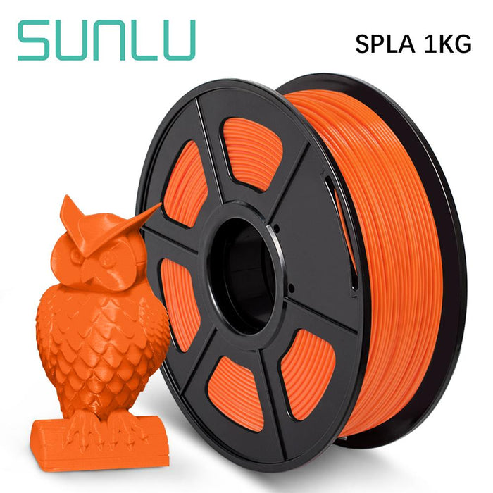3 Rolls of SPLA ( PLA+PETG ) 1.75mm Filament 3kg/6.6lbs. Fit most of FMD Printer - SunLu 3D