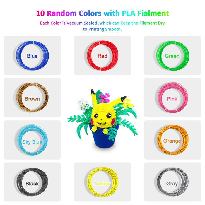 3D Filament sample 1.75mm Colorful filament. Totally 10 Colors ,Free shipping from China - SunLu 3D Printer Filament