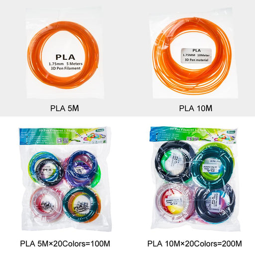 3D Pen PLA/ABS/PCL 1.75mm Colorful 3D Pen Filament. Totally 10 Colors 200 Meters Ship From China - SunLu 3D