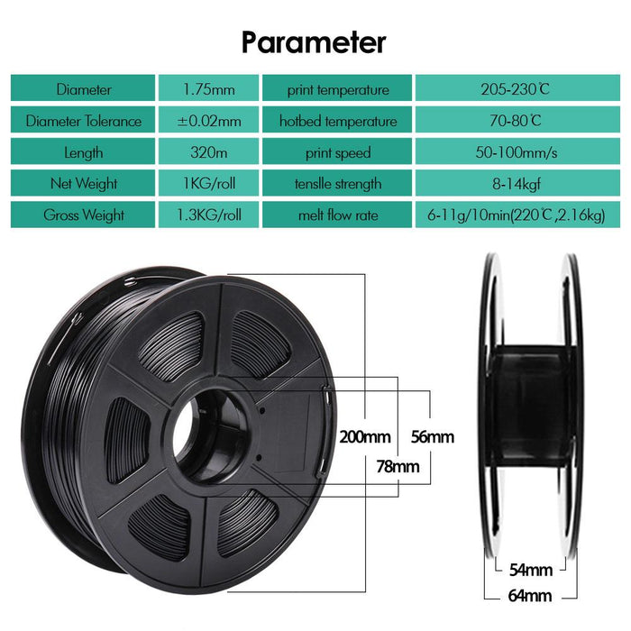 Best Selling 5 Rolls of PETG 1.75mm Filament 5kg/11lbs ,Fit Most FDM 3D Printer - SunLu 3D