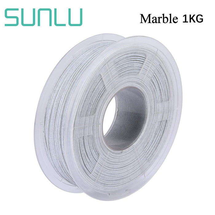 5 Rolls of PLA Marble 1.75mm filament 5kg/11lbs, Fit most of FDM 3D printer - SunLu 3D Printer Filament