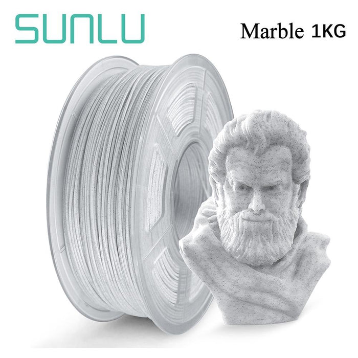5 Rolls of PLA Marble 1.75mm filament 5kg/11lbs, Fit most of FDM 3D printer - SunLu 3D