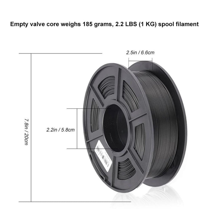 PLA Carbon Fiber 1.75mm Filament 1kg/2.2lbs - SunLu 3D Printer Filament